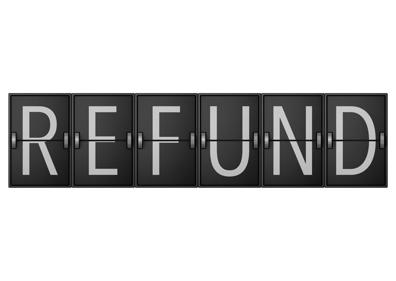 a picture of refund logo