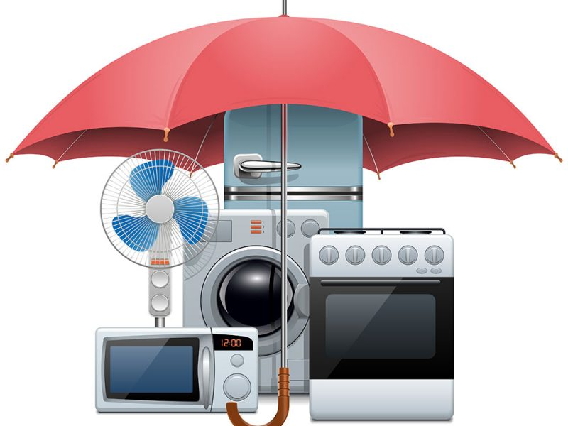 A consumer has his appliances under warranty protection