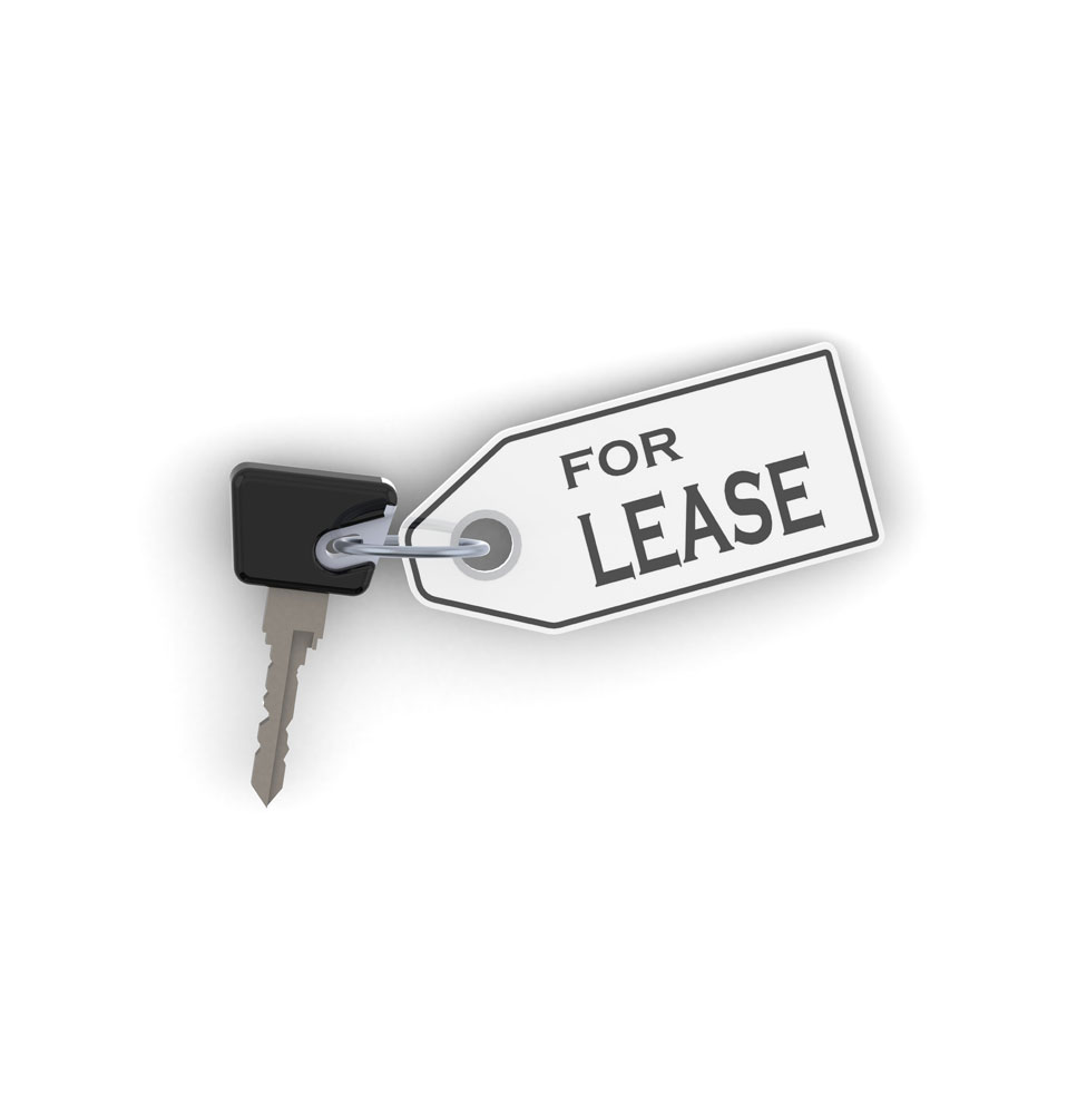 a picture of a car key with a for lease sign