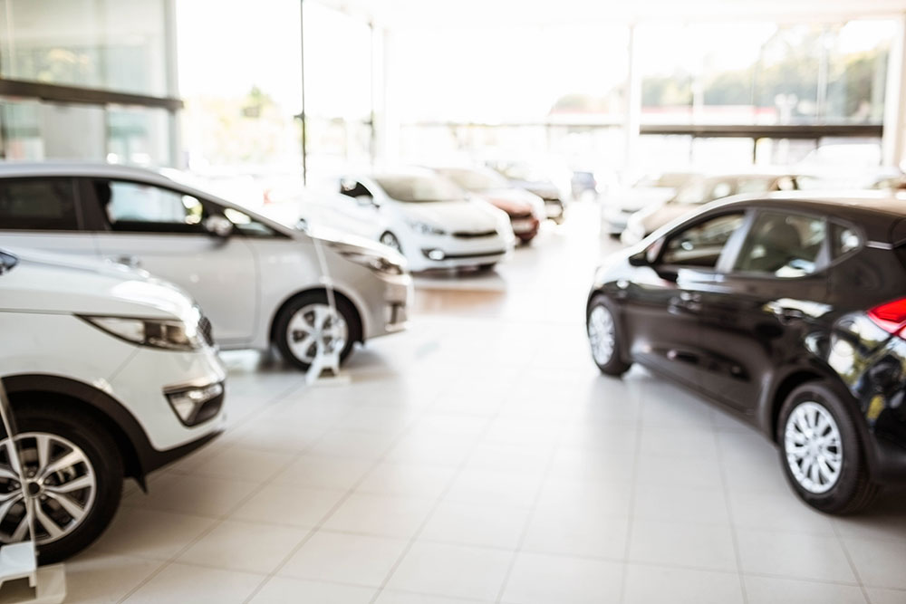 a consumer is going through the dealership searching for a new car