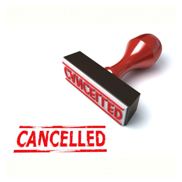 a picture of a cancelled stamp