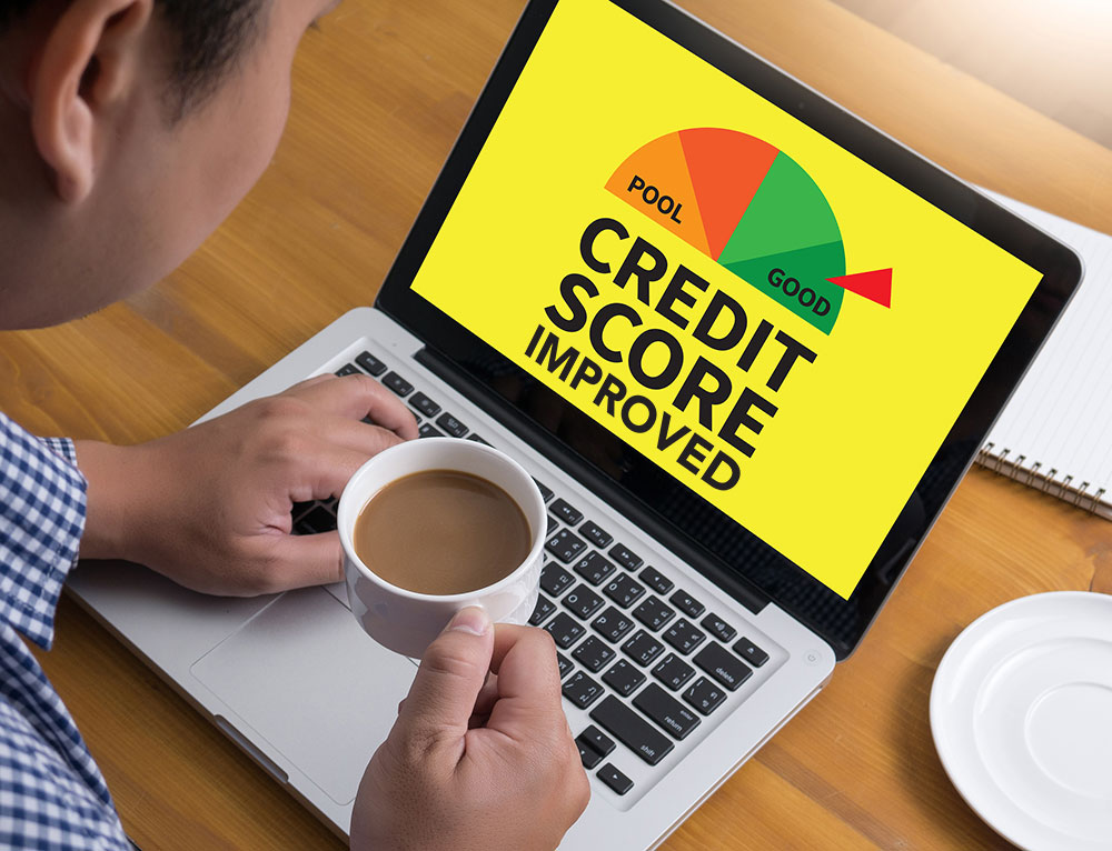 a consumer is trying to check how to improve his credit score
