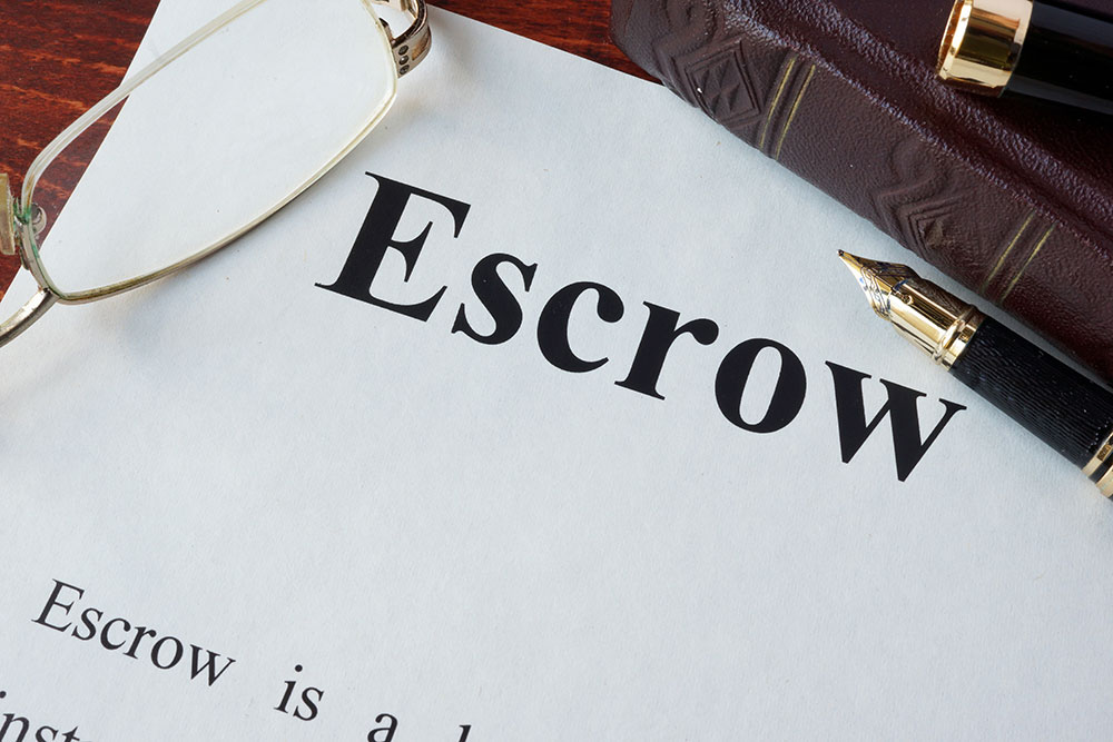 a consumer going through escrow papers