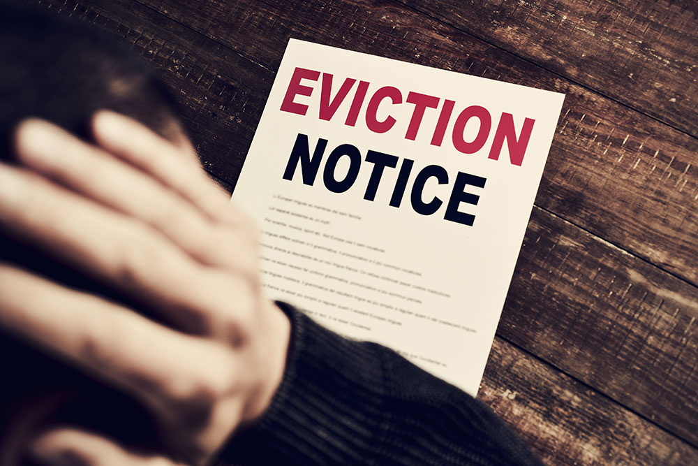 a consumer just got an eviction notice from landlord