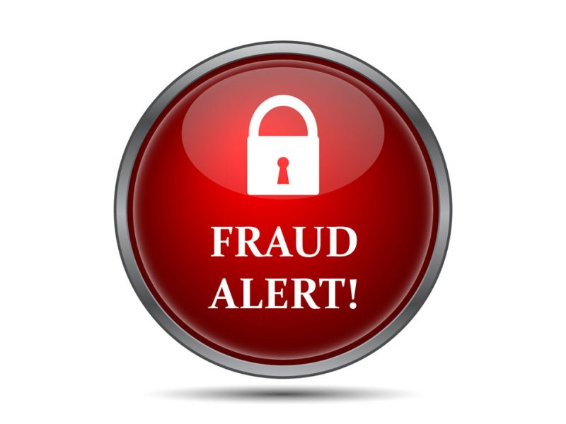 a picture of a fraud alert button