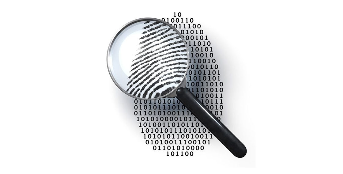 a picture of magnifying glass checking you fingerprint