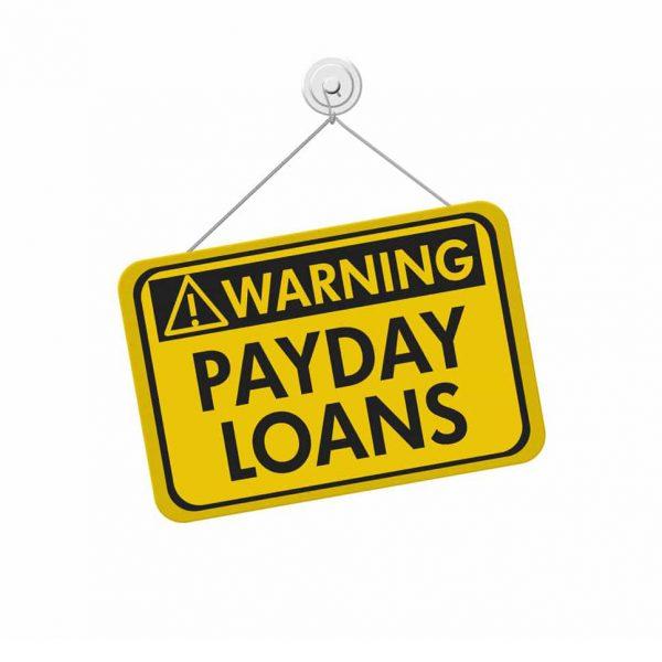 Sign: Warning, payday loans