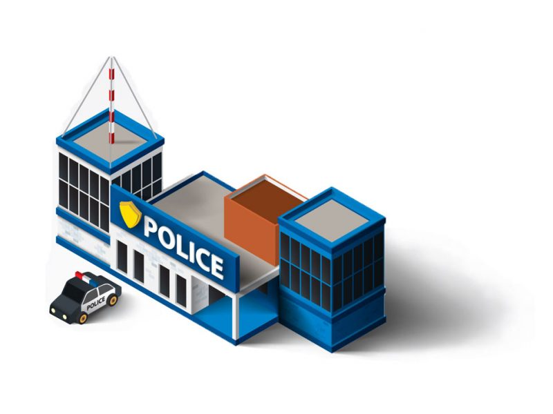 a picture of a police station