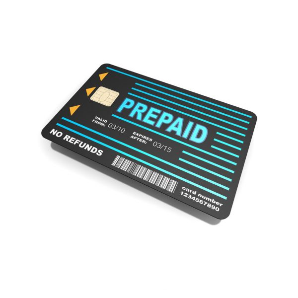 a picture of a prepaid card for consumers