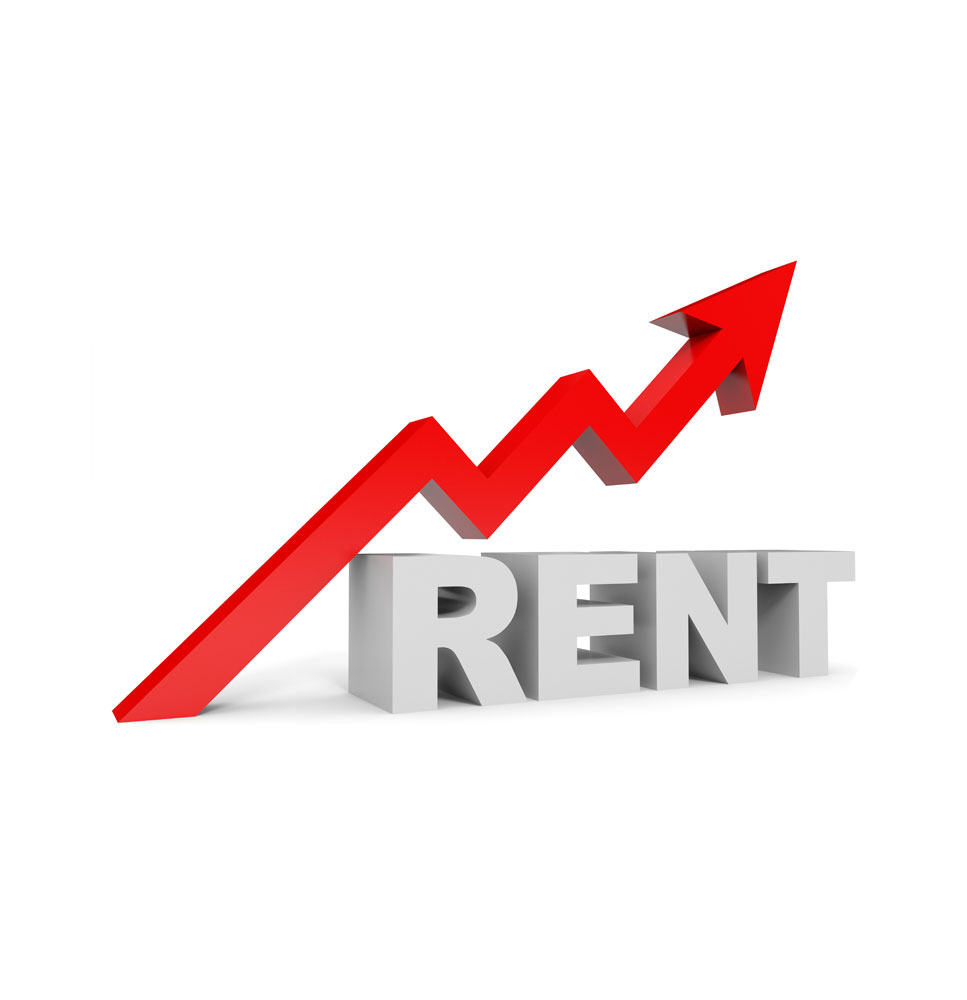 a picture of rent increasing