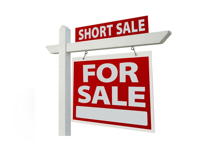 a picture of a short sale sign