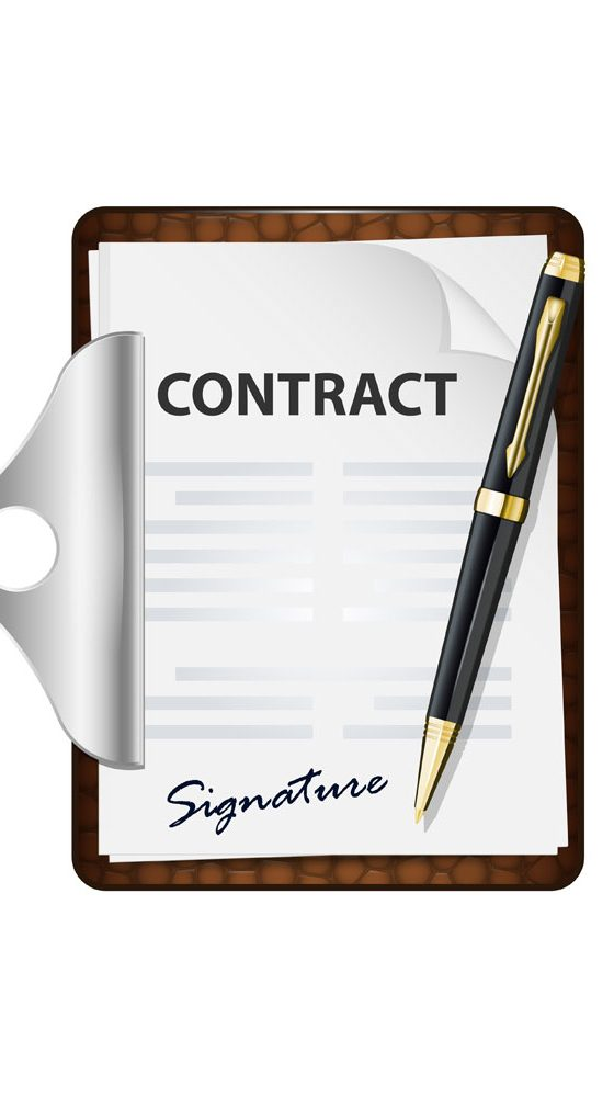 a picture of a signed contract