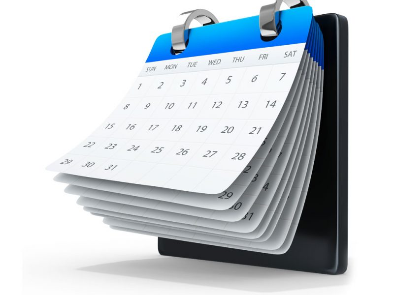a picture of a calendar indicating a motion to vacate