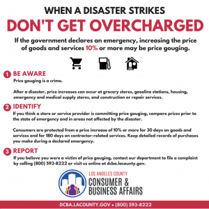 when disaster strikes don't get overcharged