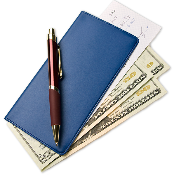 Checkbook and money from Checking account
