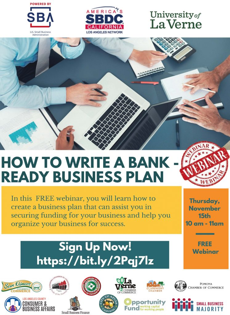 How To Write A Bankready Business Plan  Consumer  Business Event Details