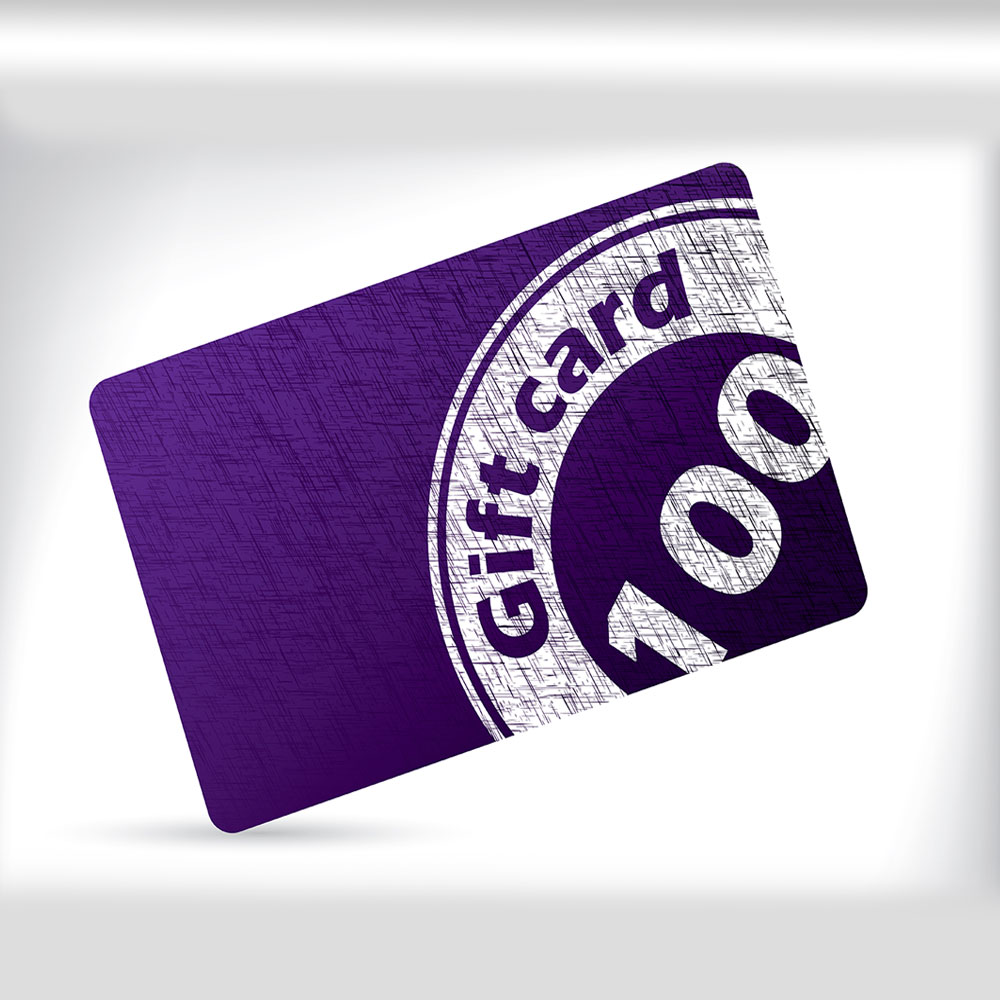 a gift card that a consumer uses to purchase goods