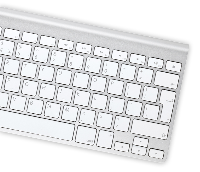 Computer Keyboard being used by business man