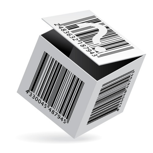 a box with barcodes