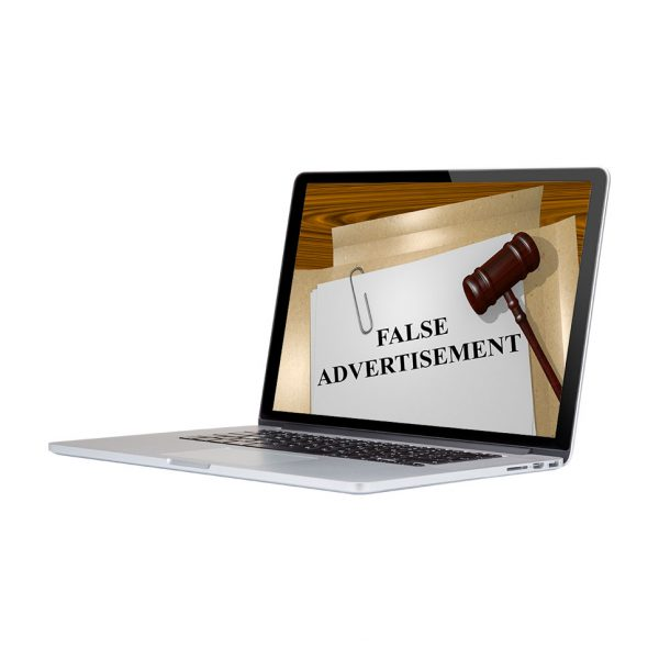 A Customer found False Advertising online