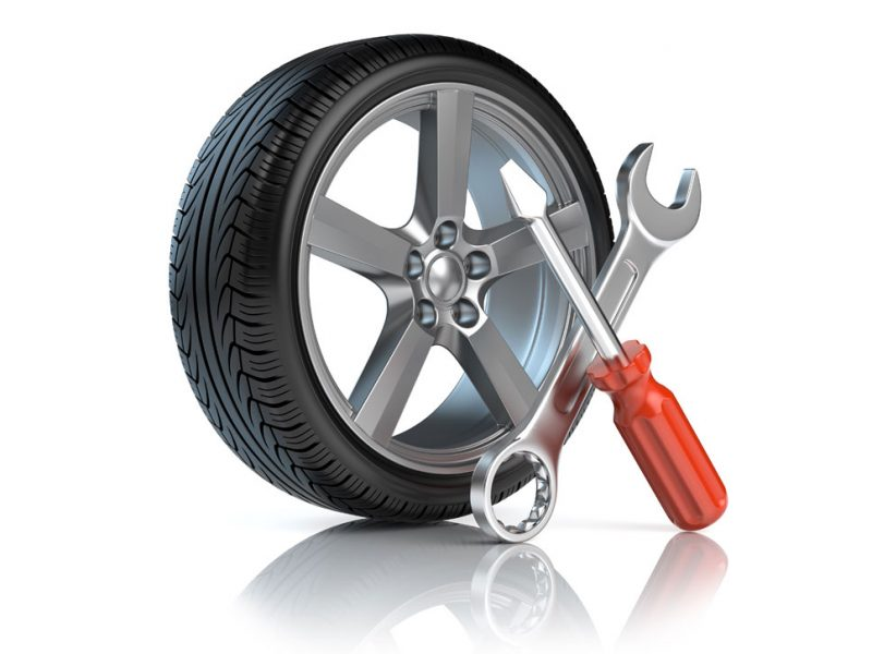 a picture of a wheel being repaired