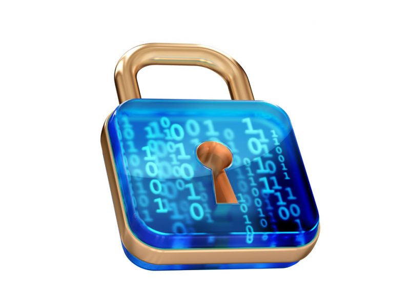 a picture of your data inside a lock