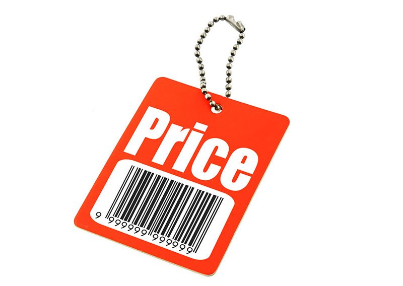 a picture of a price tag with a barcode