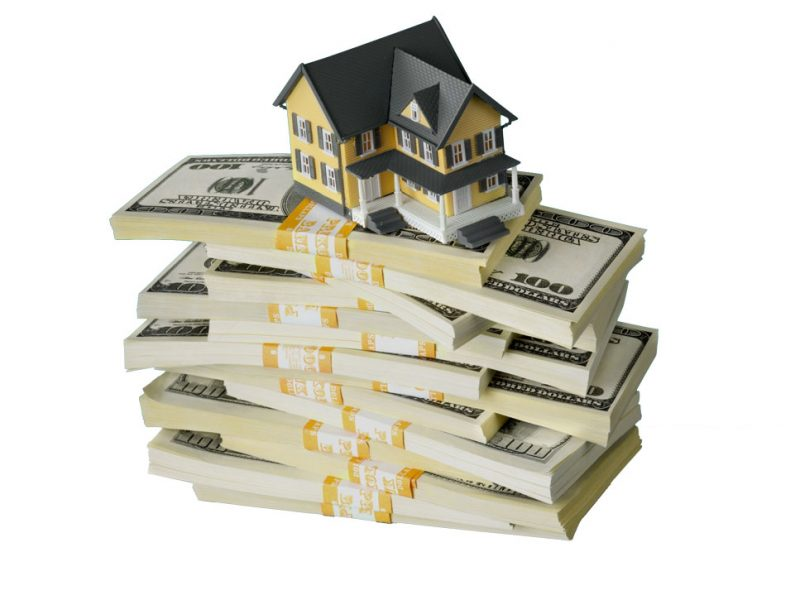a picture of money you get from refinancing your home