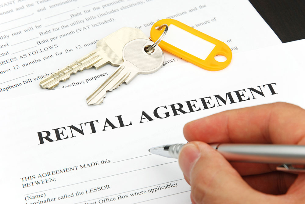 a consumer if filling out a rental agreement