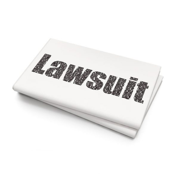 a picture of paperwork showing that you are being sued
