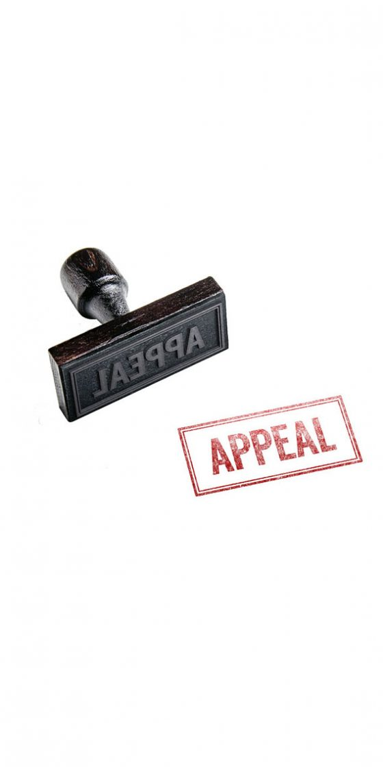 a picture of an appeal stamp