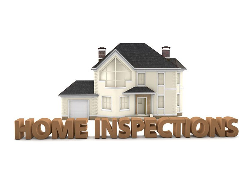 a picture of a home being inspected