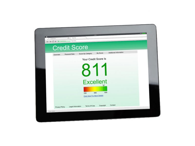 a picture of your credit record on a tablet
