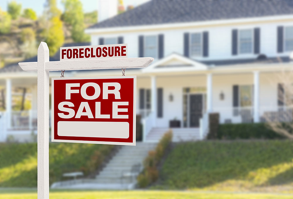 a consumers house is in foreclosure and currently being sold