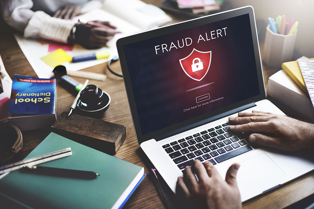 a consumer creating a fraud alert profile online
