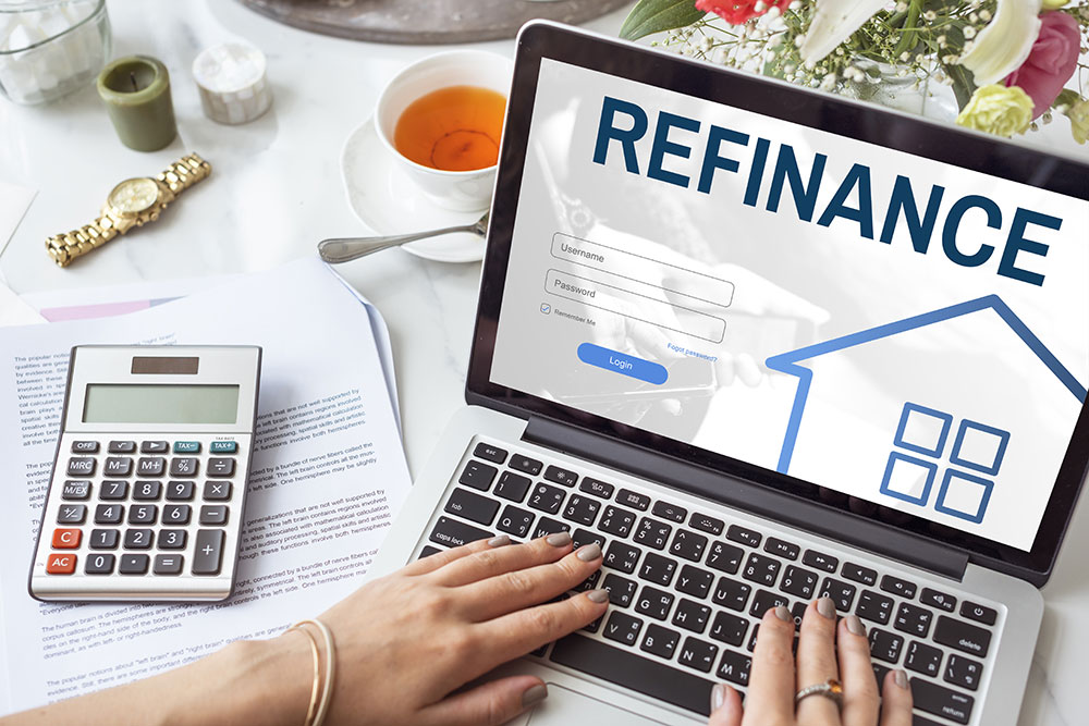 a consumer is refinancing his home