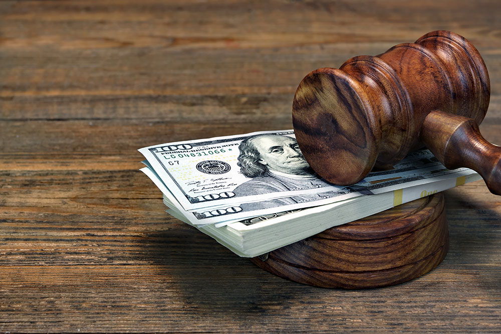 a consumer is paying the court fees
