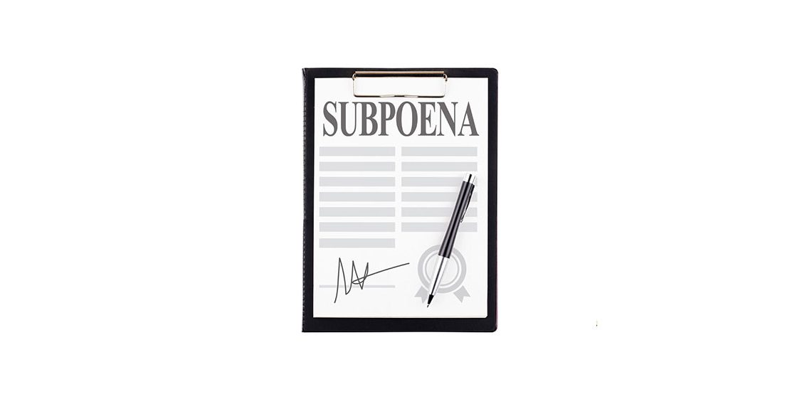 a picture of a signed subpoena