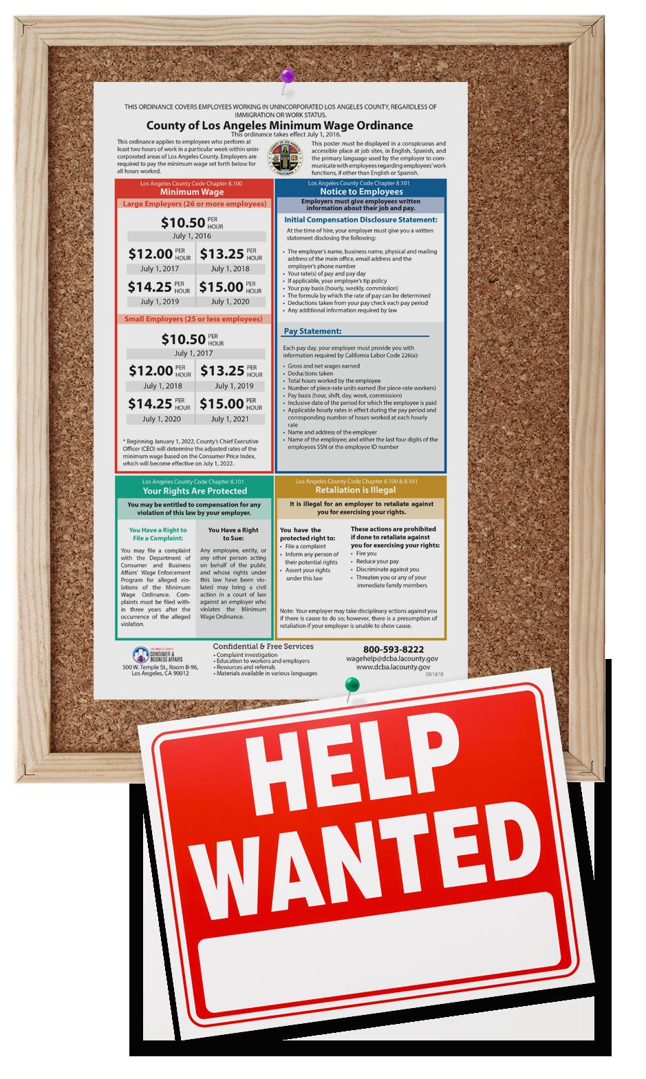 Minimum Wage bulletin board