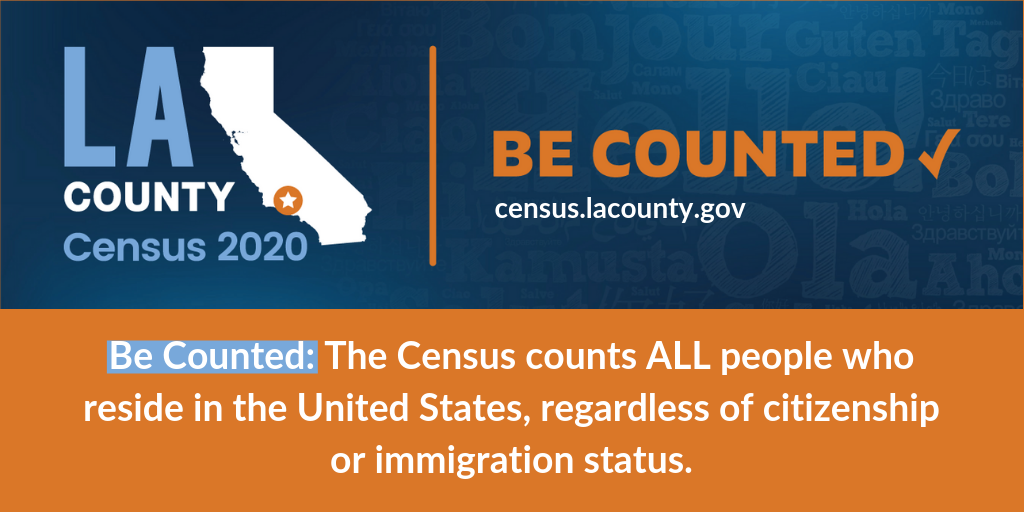 Get counted in the 2020 Census!