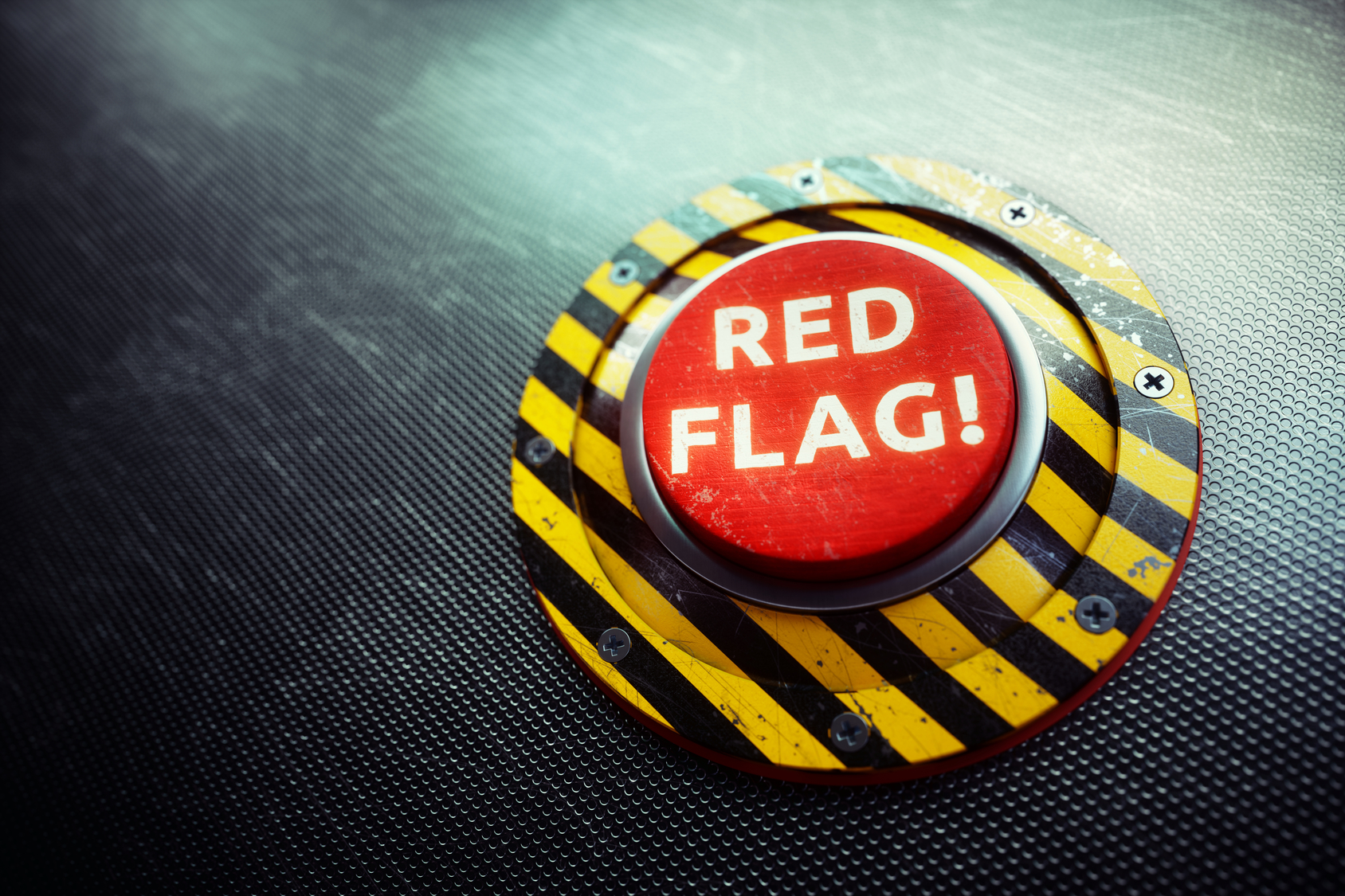 "Button with ""Red Flag!"" printed on it"