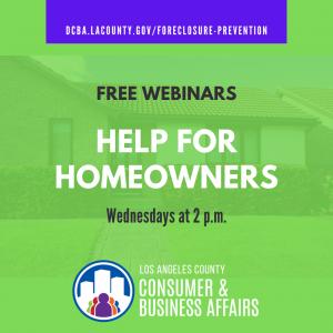 Help for Homeowners free webinars