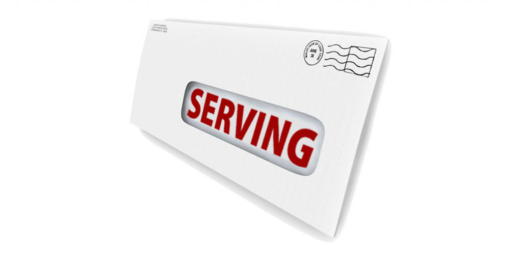 Serving Court Papers envelope graphic