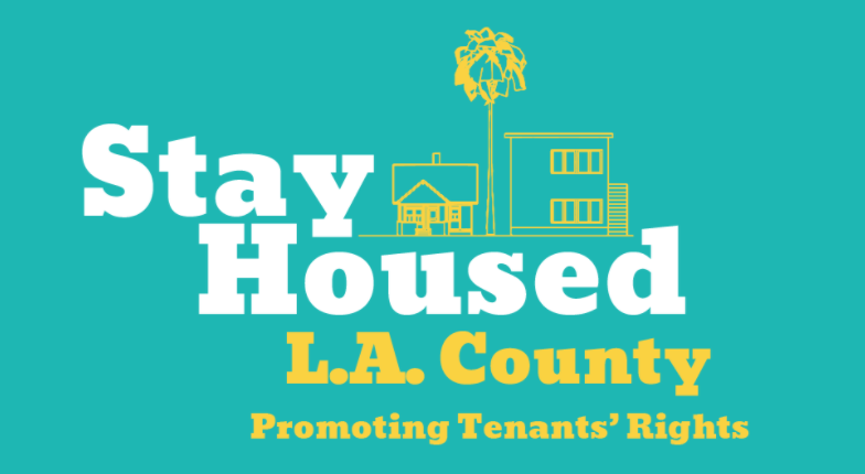 Stay Housed LA County logo: Promoting Tenants' Rights