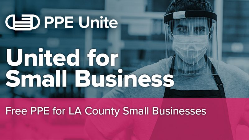 PPE Unite logo: Free PPE for LA County Small Businesses
