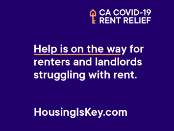 California Rent Relief. Learn more at HousingIsKey.com