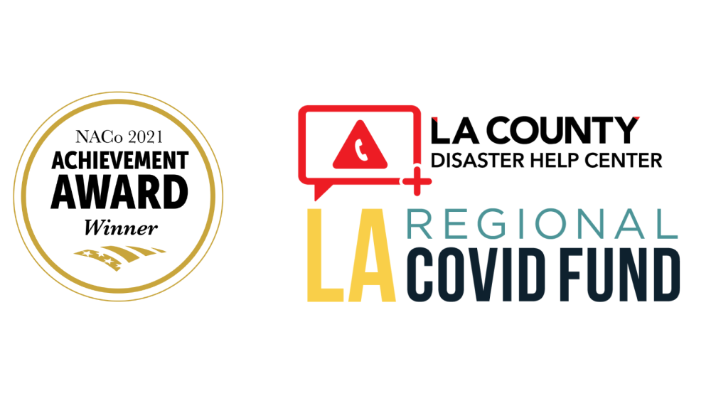 NACo, Disaster Help Center and Recovery Fund logos